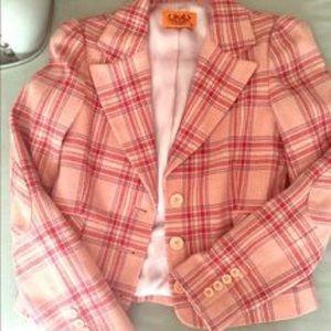 Juicy Couture Pink Plaid Blazer